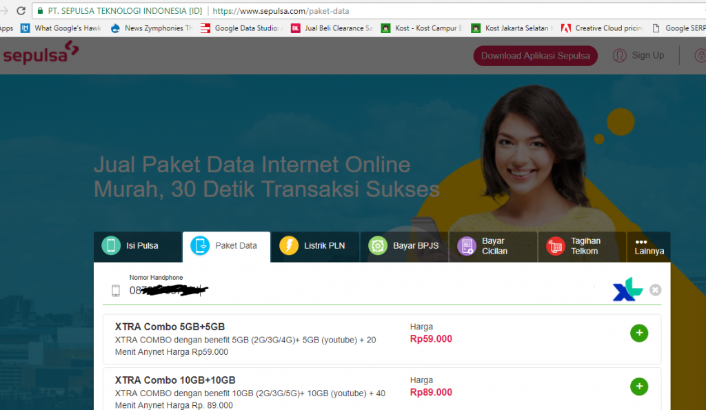 Pilihan Paket Data XL