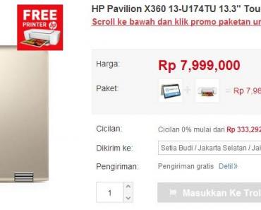 Beli Laptop HP di JD.ID Bisa Gratis Printer