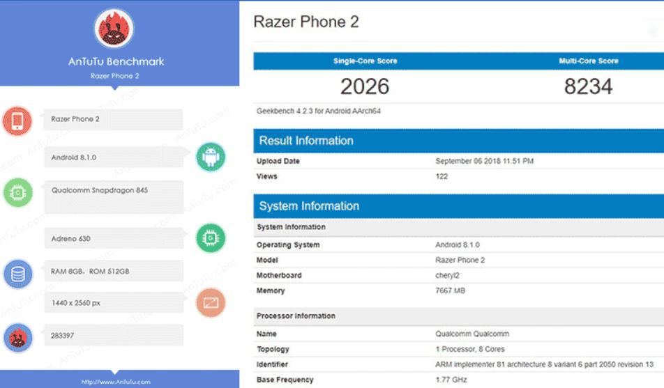 razer phone 2 performa