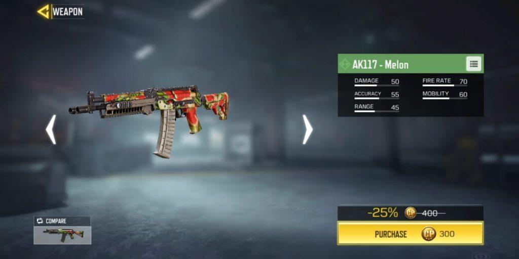 Ini Dia Senjata di Call of Duty Mobile yang Bisa Dimiliki Secara Gratis  ak17 melon